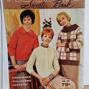 True Vintage Sweater Knitting Pattern Booklet  MCM